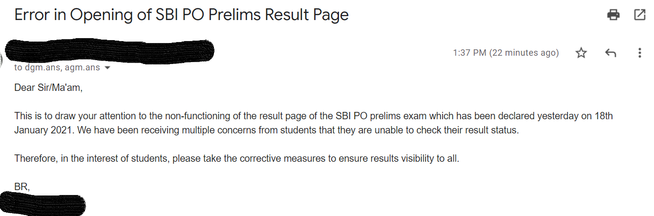 Unable to See SBI PO Prelims Results? We have Written To SBI, Check Details Here_50.1