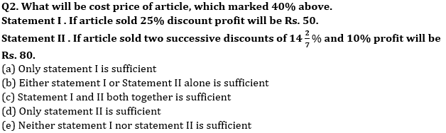 Quantitative Aptitude Quiz For Bank Mains Exams 2021- 25th January_50.1