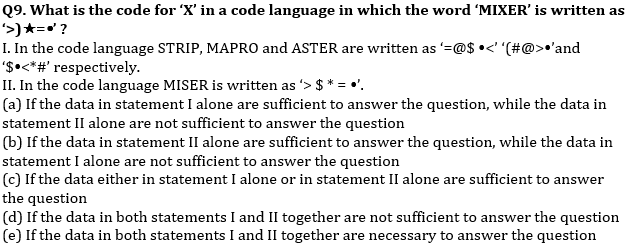 Reasoning Ability Quiz For Bank Mains Exams 2021- 27th January_50.1