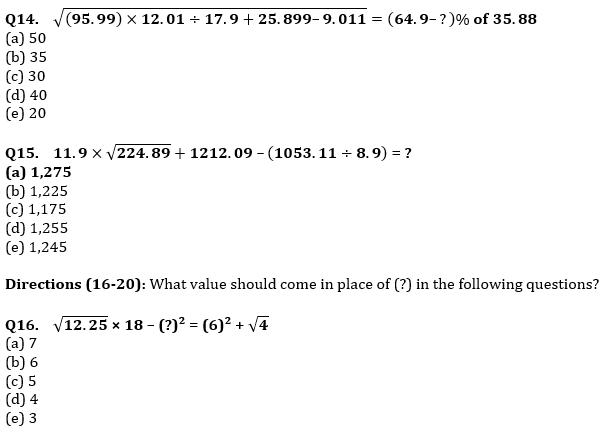 Quantitative Aptitude Quiz For IBPS RRB PO, Clerk Prelims 2021- 5th June_70.1