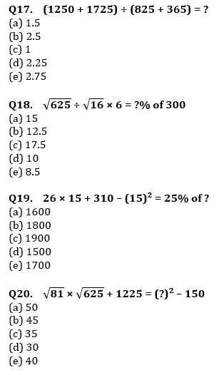 Quantitative Aptitude Quiz For IBPS RRB PO, Clerk Prelims 2021- 5th June_80.1