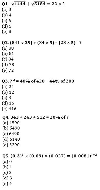 Quantitative Aptitude Quiz For SBI PO, Clerk Prelims 2021- 19th June_50.1