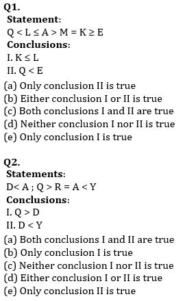 Reasoning Ability, Quiz For SBI PO, Clerk Prelims 2021- 25th June_50.1