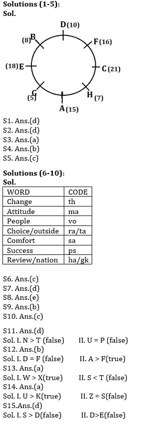 Reasoning Ability, Quiz For SBI PO, Clerk Prelims 2021- 26th June_60.1