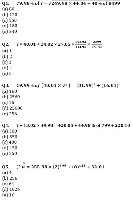 Quantitative Aptitude Quiz For IBPS Clerk Prelims 2021- 24th July_50.1