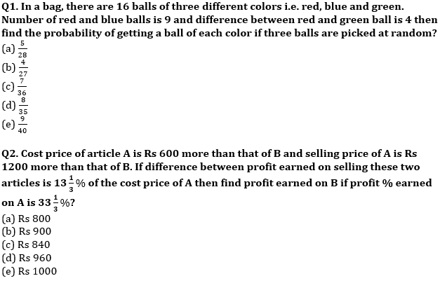 Quantitative Aptitude Quiz For IBPS RRB PO, Clerk Prelims 2021- 27th July_60.1