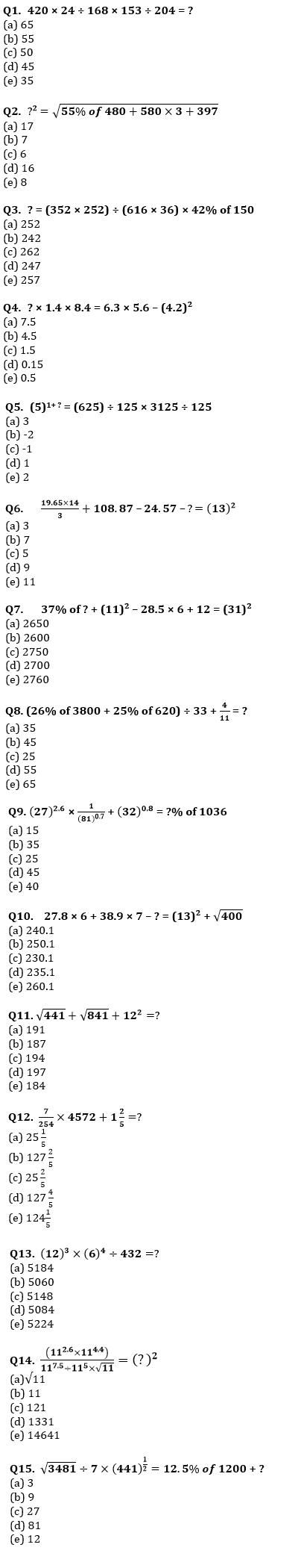Quantitative Aptitude Quiz For IBPS Clerk Prelims 2021- 28th July_60.1