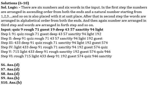 Reasoning Ability Quiz For SBI Clerk Mains 2021- 29th July_70.1