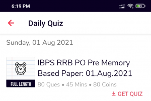 IBPS RRB PO PRELIMS 2021   MEMORY BASED MOCK is LIVE NOW   Attempt for Free on Adda247 App_50.1