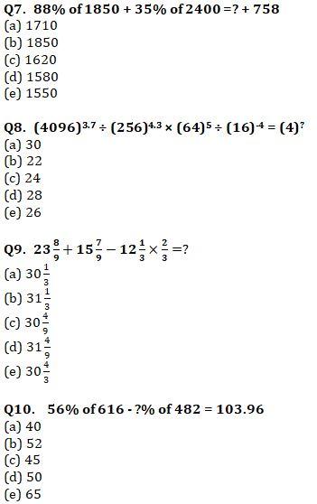 Quantitative Aptitude Quiz For IBPS Clerk Prelims 2021- 21st August_70.1