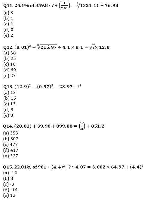 Quantitative Aptitude Quiz For IBPS Clerk/NIACL AO Prelims 2021- 28th August_60.1