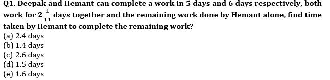 Quantitative Aptitude Quiz For IBPS Clerk/NIACL AO Prelims 2021- 29h August_50.1