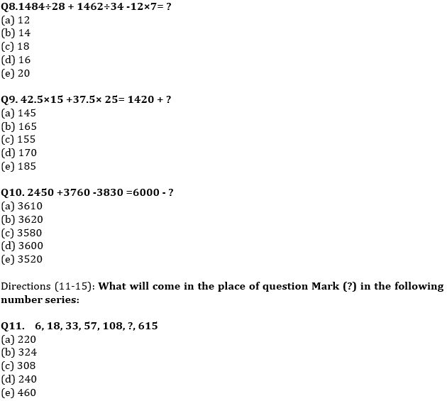 Quantitative Aptitude Quiz For IBPS Clerk/NIACL AO Prelims 2021- 5th September_70.1
