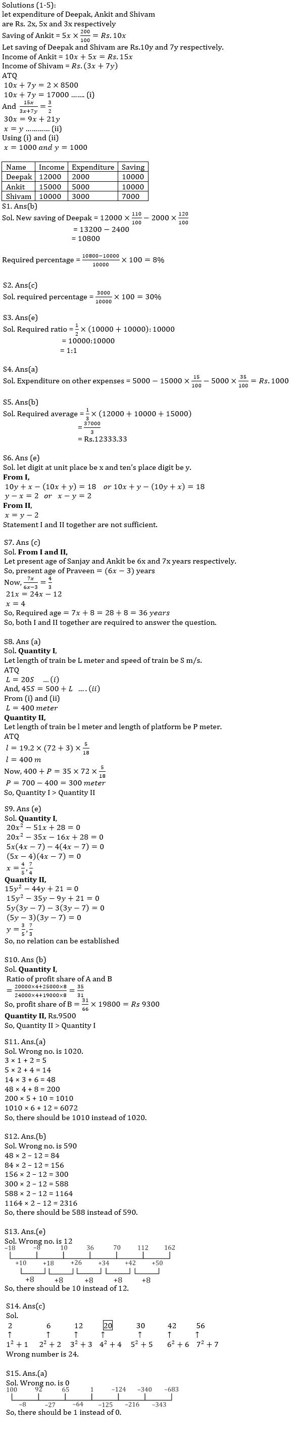 Quantitative Aptitude Quiz For IBPS Clerk/NIACL AO Prelims 2021- 11th September_50.1