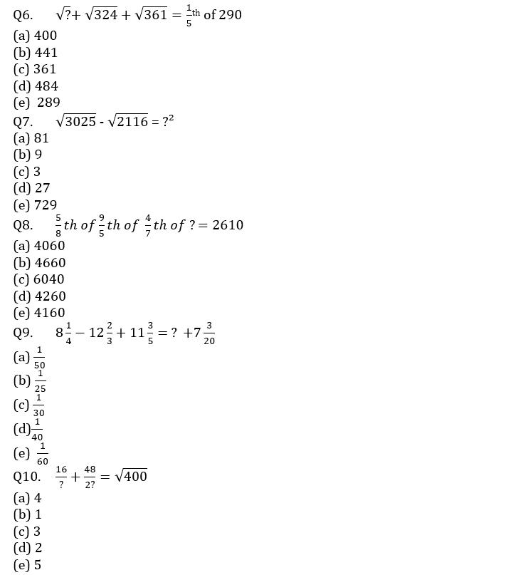 Quantitative Aptitude Quiz For IBPS Clerk/NIACL AO Prelims 2021- 12th September_60.1