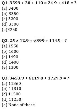 Quantitative Aptitude Quiz For IBPS Clerk/NIACL AO Prelims 2021- 19th September_50.1