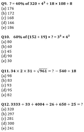 Quantitative Aptitude Quiz For IBPS Clerk/NIACL AO Prelims 2021- 20th September_70.1