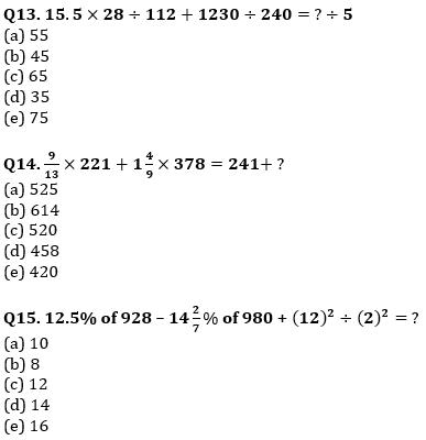 Quantitative Aptitude Quiz For IBPS Clerk/NIACL AO Prelims 2021- 20th September_80.1