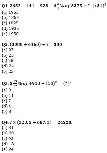 Quantitative Aptitude Quiz For IBPS Clerk/NIACL AO Prelims 2021- 29th September_50.1