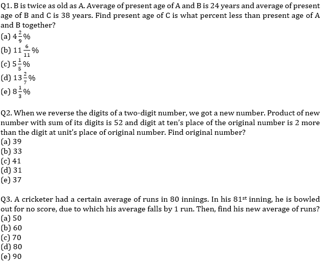 Quantitative Aptitude Quiz For SBI/IBPS PO Prelims 2021- 8th October_50.1