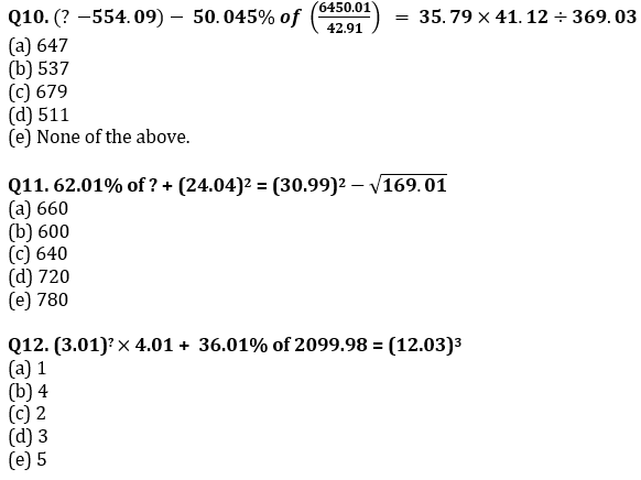 Quantitative Aptitude Quiz For SBI/IBPS PO Prelims 2021- 11th October_90.1