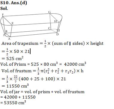Quantitative Aptitude [Advanced Level] For SSC CGL : 11th January 2020 for Geometry, Trigonometry and Algebra_170.1