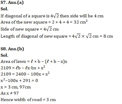 Quantitative Aptitude of Advanced Level For SSC CGL : 15th January 2020 for Ratio, mensuration and Algebra_130.1