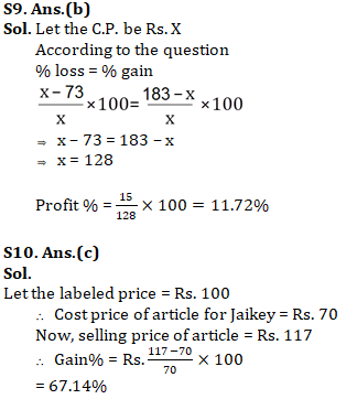 Quantitative Aptitude For SSC CGL,CHSL : 29th January 2020 for Profit & loss_100.1