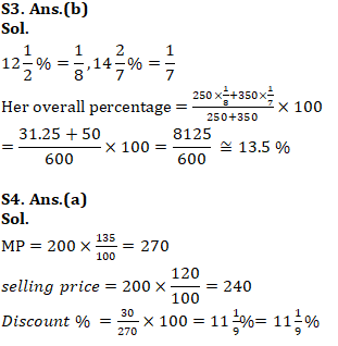 Quantitative Aptitude Quiz for SSC CHSL 29th January 2020 For Percentage , Profit & Loss , Simple Interest_110.1