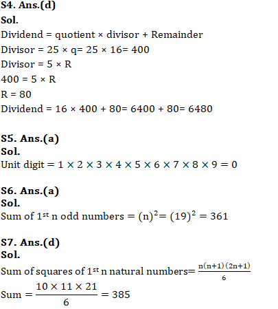 Mathematics Quiz For RRB NTPC : 3rd January 2020 For Number System_60.1