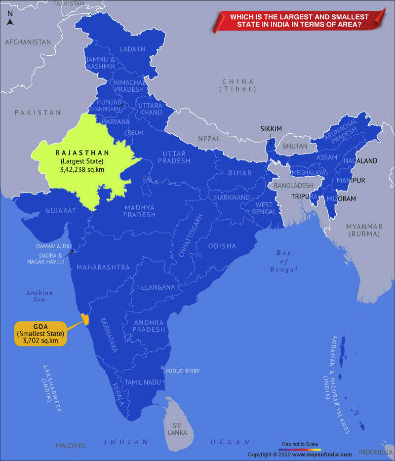 Largest State in India | Largest state in india by population | Largest state in india by area_60.1