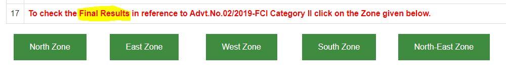 FCI मैनेजर Final Result घोषित : यहाँ से करें Zone-Wise Result की जाँच_50.1