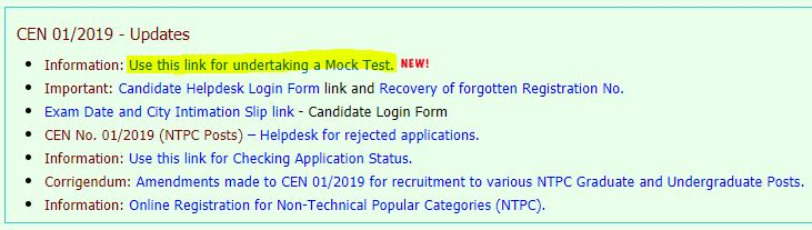 RRB NTPC Mock Test Available On Official Website : Check Now_50.1