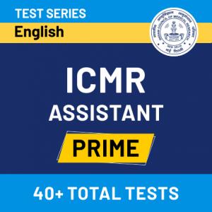 ICMR असिस्टेंट 2020-21 ऑनलाइन टेस्ट सीरीज_50.1