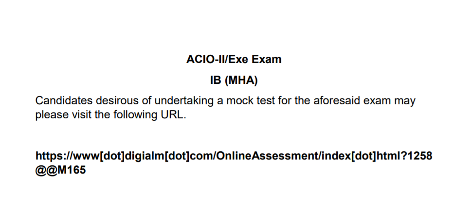 IB ACIO Sample Mock Test Available @mha.gov.in: Attempt Now_70.1