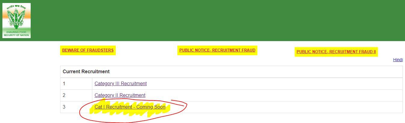 FCI कैटेगरी- I भर्ती 2021(FCI Category-I Recruitment 2021)_40.1