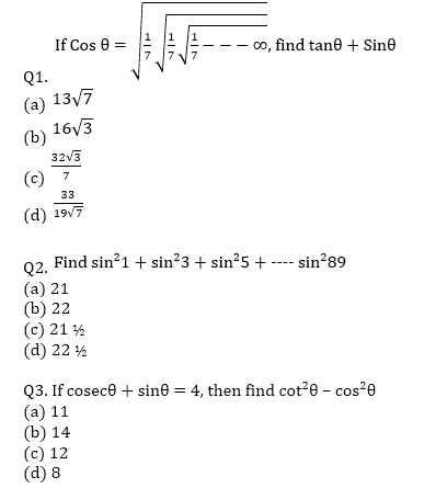 Target SSC CGL | 10,000+ Questions | Quant Questions For SSC CGL : Day 43_50.1