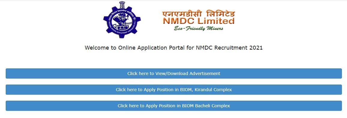 NMDC लिमिटेड भर्ती 2021: रिक्त पदों के लिए आवेदन शुरू, यहाँ से करें ऑनलाइन आवेदन_50.1