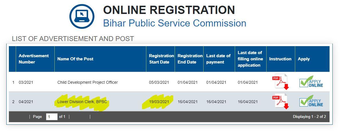 BPSC LDC Recruitment 2021: Apply Link Active_50.1