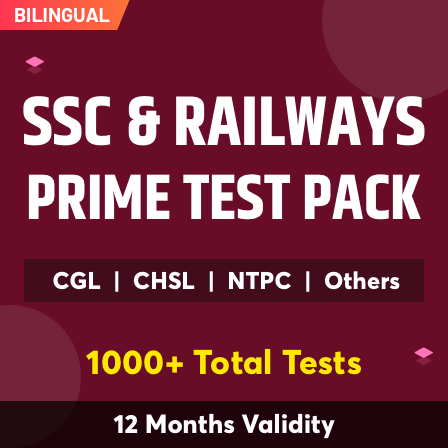 SSC & Railway Prime Test Pack For SSC, Railways & Other Govt. Exams 2021-22_60.1