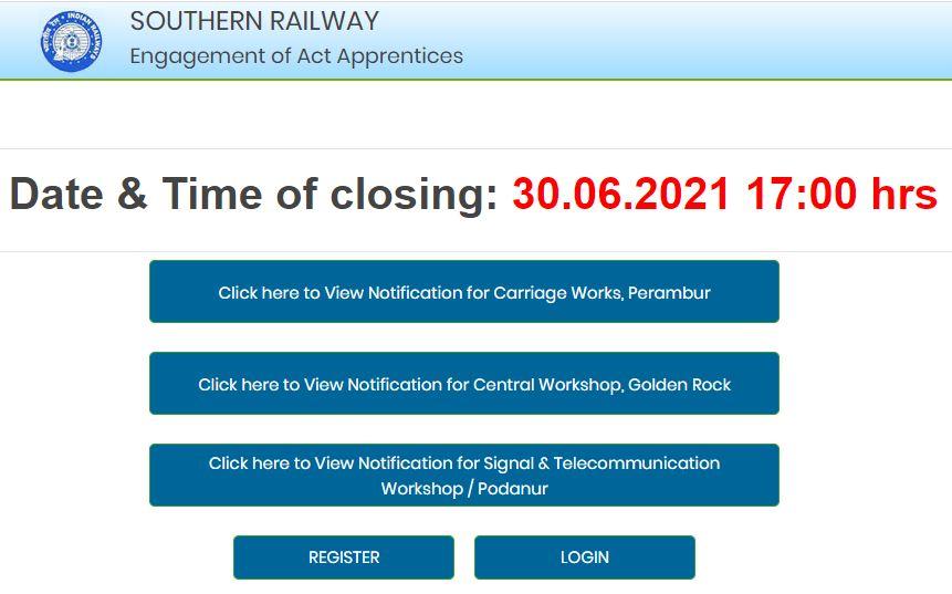 दक्षिण रेलवे अपरेंटिस भर्ती 2021: 3322 रिक्तियों के लिए आवेदन शुरू; यहाँ देखें पात्रता, चयन प्रक्रिया और आवेदन प्रक्रिया से जुड़ी सभी जानकारी_50.1