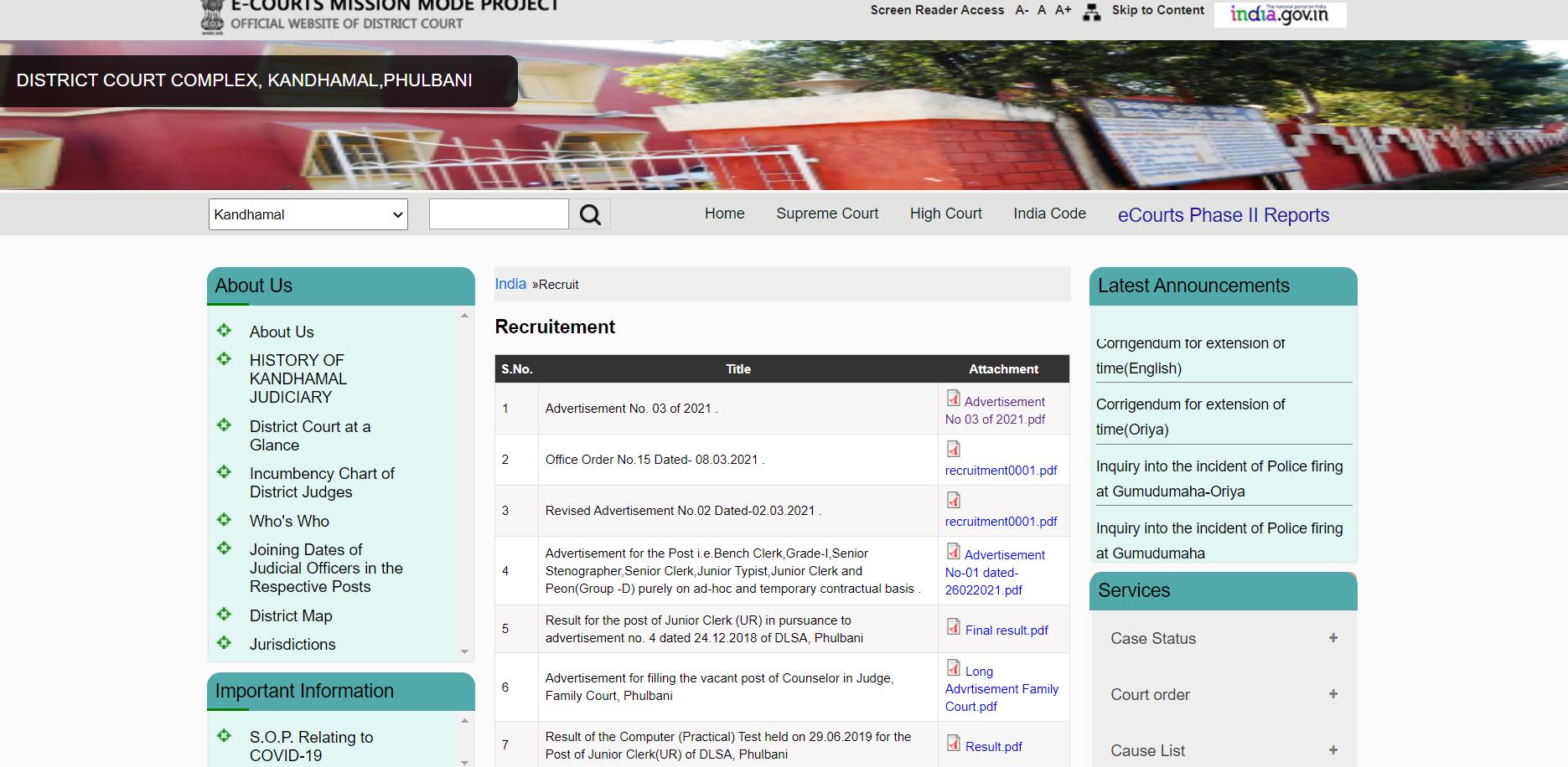 District Court Recruitment 2021: District Court Kandhamal Recruitment_50.1