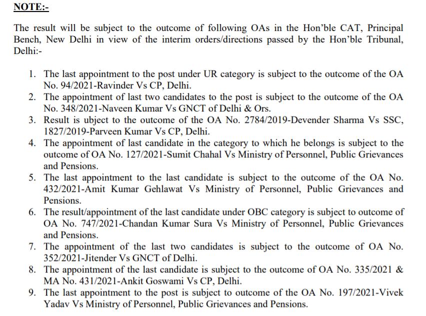 दिल्ली पुलिस SI, CAPF और ASI रिजल्ट घोषित: यहां से करें रिजल्ट डाउनलोड_50.1