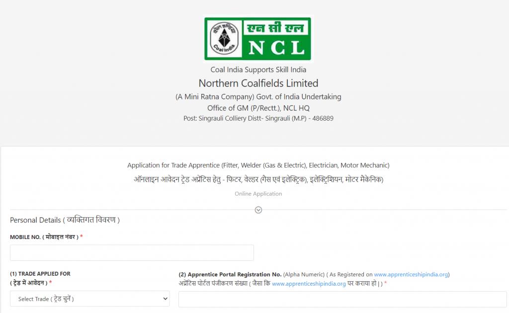Northern Coalfields Limited : Northern Coalfields Limited (NCL) Recruitment 2021_50.1