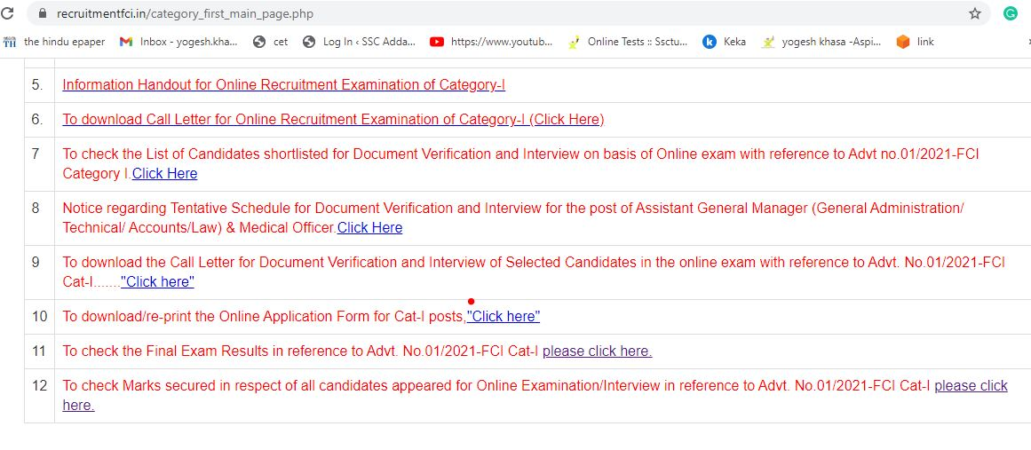 FCI AGM Recruitment Final Result Out : Download Result PDF Check Final Marks_50.1