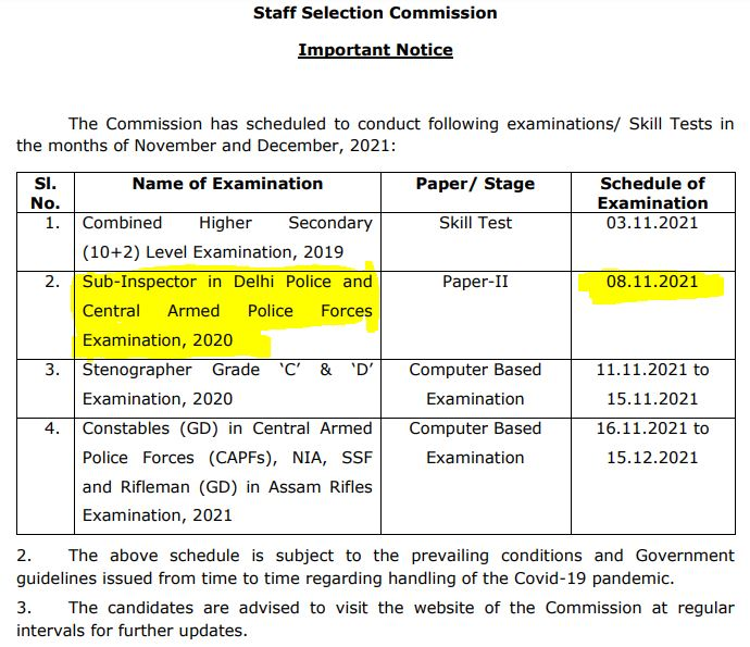 SSC CPO टियर-2 परीक्षा तिथि घोषित : जानिए कब होगी परीक्षा_50.1