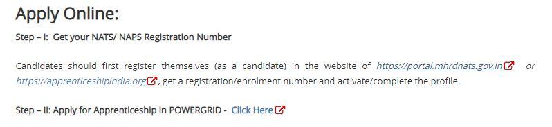 PGCIL Apprentice Recruitment : Apply Online for 1110 Apprentice Posts_50.1