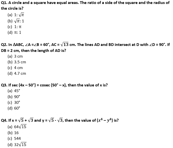 Target SSC Exams 2021-22 10000+ Questions Attempt Maths Quiz | Day 196_50.1