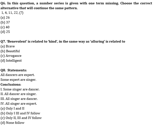 Target SSC Exams 2021-22 10000+ Questions: Attempt Reasoning Quiz | Day 200_70.1