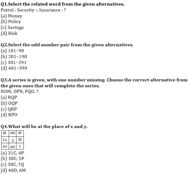 Target SSC Exams 2021-22 10000+ Questions: Attempt Reasoning Quiz | Day 203_50.1